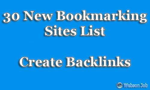30 bookmarking sites list