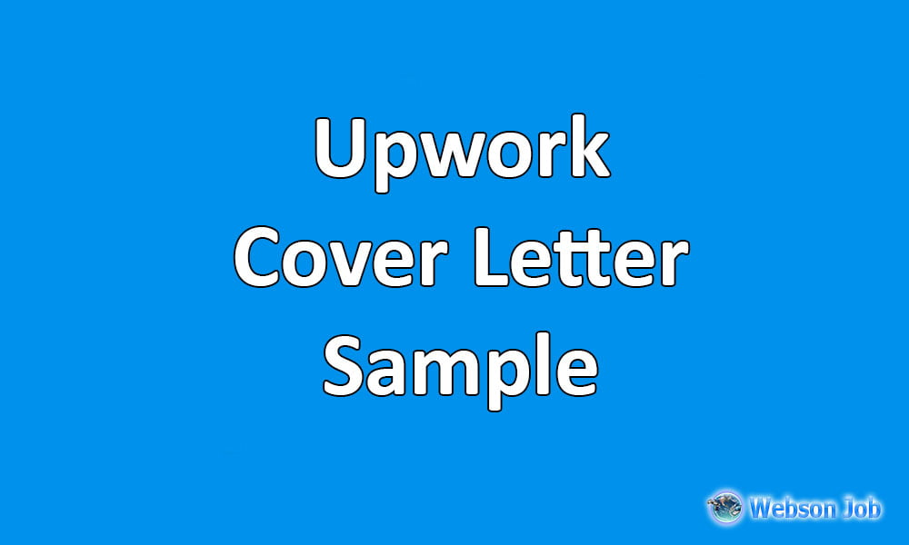 upwork cover letter sample example and format
