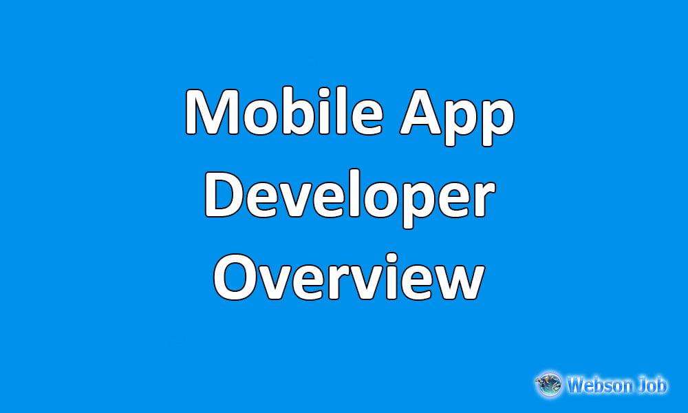 upwork overview sample for mobile app developer
