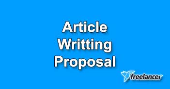 Article Posting Proposal Sample