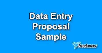 Data Entry Proposal Sample