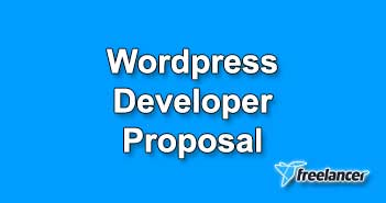 Wordpress Developer Proposal Sample