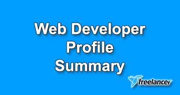 Web Developer Profile Summary Sample for Freelancer